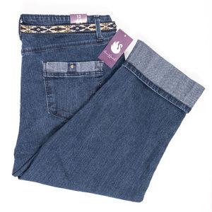 NEW Gloria Vanderbilt Capri Jeans Size 12 #00474